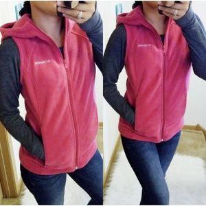 Columbia| Magenta Pink Hooded Fleece Vest